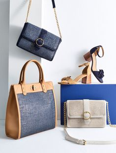 6c78e66c1f83 Our collection of woven crossbody bags and totes are a polished choice to  complete your summer