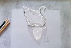 Mi dibujo de un cisne de cristal.✏