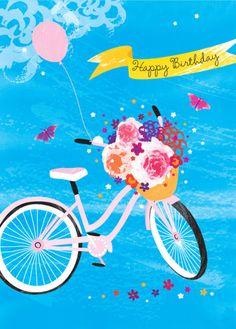 Debbie Edwards - Female Birthday Bike With Flowers In Basket 2