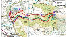 A map of the route you will follow on this walk