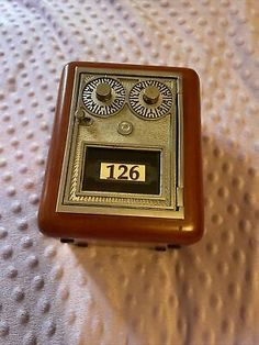 Mini Vintage Wooden Safe / Bank 126. Smoke and pet free household. Will give access code after purchase. Please see all photos carefully. Have a blessed day :) Personal Safe, Have A Blessed Day, Household, Im Not Perfect, Coding, Smoke, Mini, Photos, Free