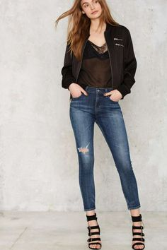 A Gold E Sophie Crop Skinny Jean - Blue - Sale: Newly Added | Sale: 40% Off