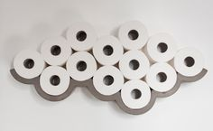 Cloud: étagère decoration range papier toilette Le béton comme matériau par Bertrand Jayr