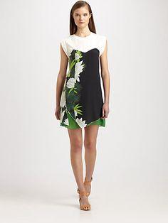 3.1 Phillip Lim - Trompe L'Oeil Silk Printed Dress - Saks.com