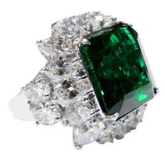 Absolutely Magnificent Natural Beryl Emerald Ring