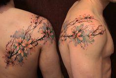 Gene Coffey flowering braches tattoo