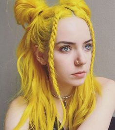 Medium Yellow Hair For Girls
