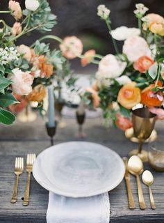 brass & bright flowers | jen huang photography