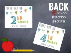 first day of school printable photo signs