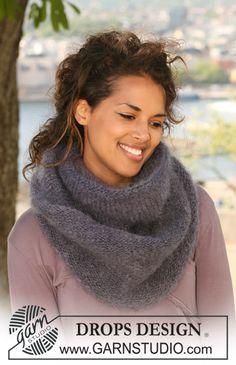 Basic patterns - Free knitting patterns and crochet patterns by DROPS Design Knitting Patterns Free, Free Knitting, Free Pattern, Drops Design, Cowl Scarf, Knit Cowl, Crochet Scarves, Knit Crochet, Magazine Drops
