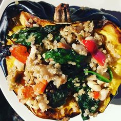 Stuffed Acorn Squash ...so soothing on a cold rainy day in the PNW  #bodythrive #vegansofig #plantpowered #glutenfreevegan #whatveganseat #quinoa #lovepulses by artemis7