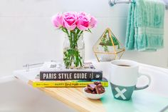 DIY Mother's Day Gift: Geometric Bath Shelf | The Whimsical Wife