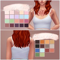 oh, you @sims4-marigold's sleeveless top // maxis match'd & recolored