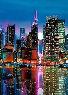 Puzzle Trefl Luna Llena sobre Manhattan de 500 piezas