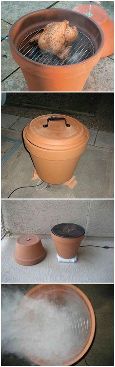 DIY Clay Pot Smoker: