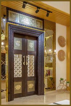 Pooja Room Door Design, Door Design Interior, Home Room Design, Modern Tv Cabinet, Wooden Main Door Design, Double Door Design, Tv Unit Design, Temple Design For Home, Modern Exterior House Designs