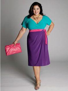 5cb68392b8d99 Buy Tailor-Made V Neck Wholesale Sleeves Color Block Blue Purple Knee Length  Plus Size prom Dress!