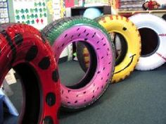painted tire swing ideas!!!