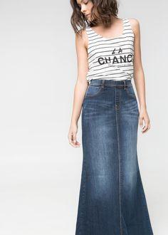 5e0cb91ad Las 17 mejores imágenes de faldas Largas Jeans en 2017 | Frutas y ...