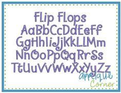 Flip flops font