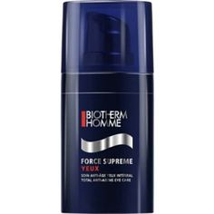 Biotherm Homme Force Supreme Total Anti Aging Eye Care is Formulated For The Delicate Skin Around Eye Contour Areas. Enriched With Pro-Xylane & Cedar Bud To Revive The Skin. Provides Intense Moisture To Combat Dryness, Diminishes Appearance Of Fine Lines - Wrinkles & Puffiness. Restores A Smoother,firmer & Younger-looking Eye Zone.  http://www.bestbeautynet.com/biotherm-homme-force-supreme-total-anti-aging-eye-care-005-oz-15ml-p-26994.html