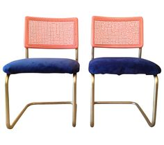 Reinvented Breur Cesca Style Chairs - A Pair on Chairish.com