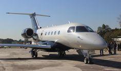 """O novo modelo 450 é o """"caçula"""" da família Legacy da Embraer (Foto - Thiago Vinholes)"""