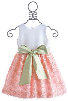 Susanne Lively Peach Soutache Dress with Silk Sash $119.00