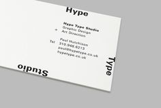 HYPE TYPE STUDIO by STUDIO NEWWORK , via Behance