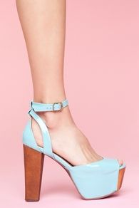 Perfect Platform - Aqua Patent, jeffrey campbell