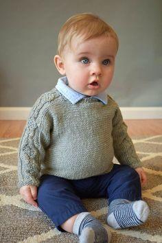 Ravelry crosscut pullover pattern by rachel brockman. Baby Knitting Patterns, Knitting For Kids, Free Knitting, Baby Sweater Patterns, Baby Patterns, Baby Pullover, Baby Cardigan, Pullover Designs, Dk Weight Yarn