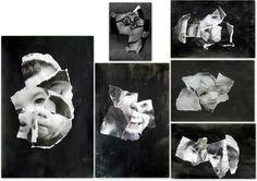 les petites têtes de l'art: Idées noires d'après les papiers déchirés de Jan A...