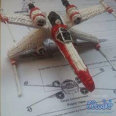 Classic X-wing by @joep_prinsen  #WhatWillYouCreate #3Doodler #Model #StarWars #ForceAwakens