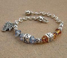 A Girls Best Friend Bracelet Mothers Bracelet, Friend Bracelets, Baby Bracelet, Girls Best Friend, Best Friends, Hand Stamped, Swarovski Crystals, Gift Ideas, Gemstones