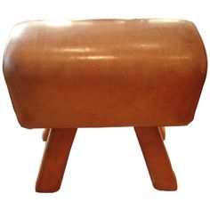 Camel Leather Pommel Horse Bench | From a unique collection of antique and modern benches at http://www.1stdibs.com/furniture/seating/benches/