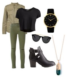 Untitled #121 by jadaxoxo12 on Polyvore featuring polyvore, fashion, style, Pieces, Anine Bing, J Brand, Charlotte Russe, Larsson & Jennings, True Rocks and Smoke & Mirrors
