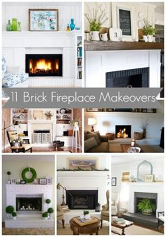 11 Brick Fireplace Makeovers | MyBlessedLife.net