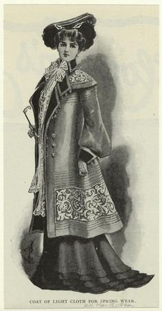 Coat of light cloth for spring wear. (1902)