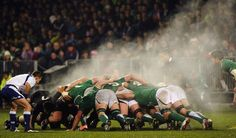 Like a volcano, the scrum is rugby!