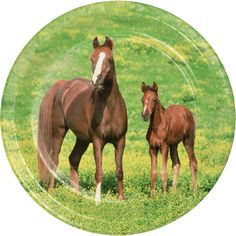 8.75'' Wild Horses Dinner Plate, Western Party (96/case)