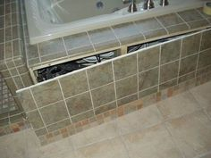 Tile around bathtub ideas bathroom tiled tub wall full for Travertine eye drops