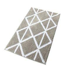Homcomoda Microfiber Bathroom Shower Rug Geometric Bath Mats Washable Kitchen Floor Mats (20.1 by 33.9 Inch, A-Grey) #Homcomoda #Microfiber #Bathroom #Shower #Geometric #Bath #Mats #Washable #Kitchen #Floor #Inch, #Grey)