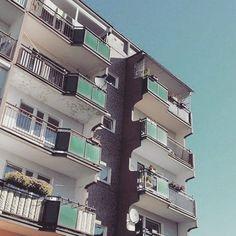 Morning!  Block of flats 1987 Poznan  #podrys #instaphoto #inspiration #city #life #street #love #balcony #beautiful #travel #happy #day #landscape #light #wall #building #urban #art #architecture #archilovers #details #design #pattern #geometry #modernism #modernizm #minimal #sun #poznan