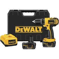 DEWALT Cordless Drill (Charger Included and Included) at Lowe's. The DEWALT® - In. mm) 18 V cordless compact Li-ion drill/driver kit has a lightweight design lbs) which minimizes user fatigue. Dewalt Drill, Dewalt Tools, Compact, Cordless Drill Reviews, Cordless Tools, Thing 1, Power Hand Tools, Tools Hardware, Ace Hardware