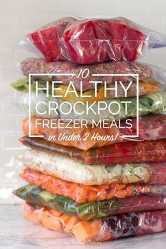 After a busy holiday season with too many cookies, I'm excited to get back to eating like normal. We just released our new Clean Eating Crockpot Freezer Meals eCookbook, so I decided to pick my 10 fav