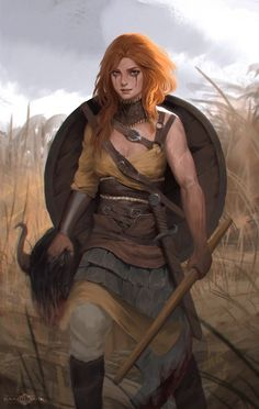 a collection of inspiration for settings, npcs, and pcs for my sci-fi and fantasy rpg games. Fantasy Warrior, Fantasy Rpg, Medieval Fantasy, Fantasy Artwork, Female Viking Warrior, Woman Warrior, Female Warriors, Irish Warrior, Fantasy Kunst