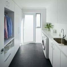 Client Project - Mt Hawthorn - Contemporary - Laundry Room - Perth - by Modern Home Improvers Pantry Laundry Room, Laundry Room Bathroom, Laundry Room Organization, Outdoor Laundry Rooms, Modern Laundry Rooms, House Design Photos, Modern House Design, Utility Room Designs, Laundry Room Inspiration