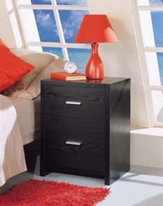 Neu Home Dusk Two Drawer Nightstand in Black