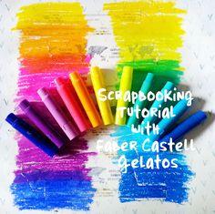 Scrapbooking Mixed Media Tutorial- Faber Castell Design Memory Craft