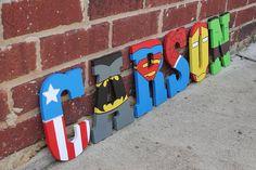 Superhero letters/Batman letters/ Spider-Man by BASECreations